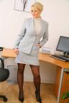Вера Стивенс, фото 38. Faith Stevens - Grey Suit (OnlyTease), foto 38
